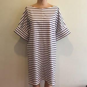 ZARA Nautical Striped Wedge Dress